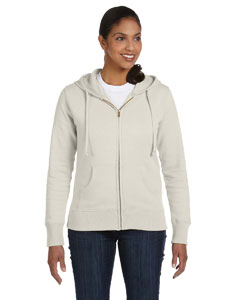 Ladies  9 oz. Organic/Recycled FulmZip Hood