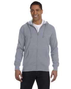 7 oz. Unisex Organic/Recycled Heathered FulmZip Hood