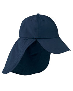 6-Pane`Low-Profile Cap with Elongated Bil`and Neck Cape