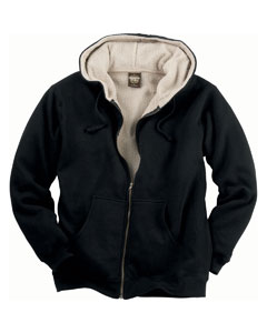 Men's Sherpa Lined Ful`Zip Hooded Sweatshirt