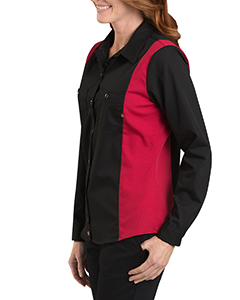Ladies' Industrial Long-Sleeve Color Block Shirt