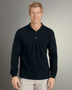 6.5 oz. Ultra Cotton® Pique Long-Sleeve Polo