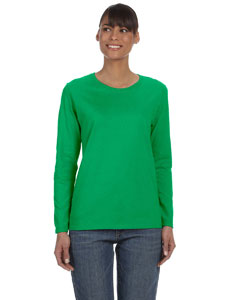 Ladies 5.3 oz. Heavy Cotton Missy Fit Long-Sleeve T-Shirt