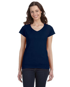 Ladies  4.5 oz. SoftStyle Junior Fit V-Neck T-Shirt