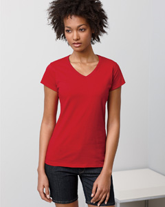 Ladies'  4.5 oz. SoftStyle Junior Fit V-Neck T-Shirt