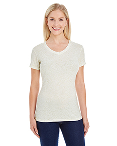 Ladies' Ladies Glitter V-Neck T-Shirt