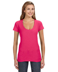 Ladies V-Neck Slub Tee