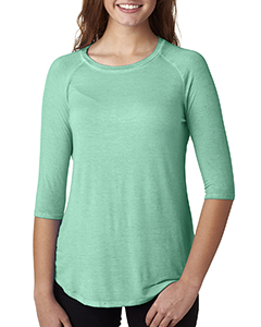 Ladies' Oasis Wash 3/4-Sleeve Tee