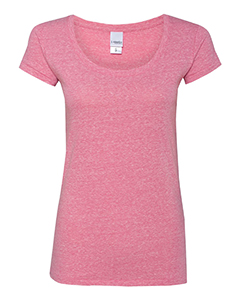 Ladies Twisted Slub Jersey Scoopneck T-Shirt