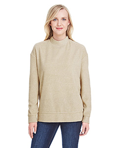 Ladies Weekend Terry Mock Neck Sweatshirt