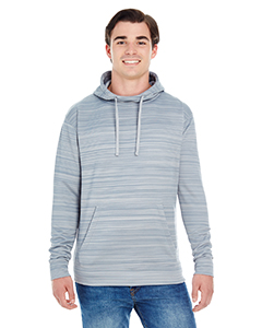 Adult Adult Striped Poly Fleece Pullover Hood