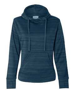 Ladies' Ladie's Striped Poly Fleece Lapover Hood