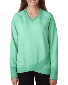 Ladies' Oasis Wash Crisscross V-Neck Fleece