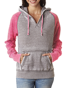 Ladies' Zen Contrast Hooded Fleece