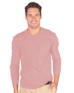 Adult 6.1 oz. Cotton Long-Sleeve T-Shirt with Pocket