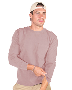 Adult 4.8 oz. Cotton Long-Sleeve T-Shirt with Pocket