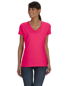 Ladies 5 oz. 100% Heavy Cotton HD™ V-Neck T-Shirt