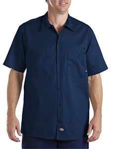 6 oz. Industria`Short-Sleeve Cotton Work Shirt