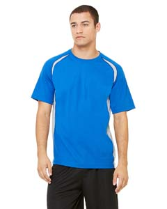 Men's  4.3 oz. Short-Sleeve Colorblocked Crew