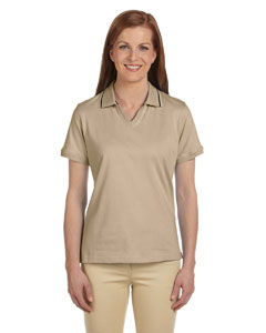 Ladies  5.9 oz. Cotton Jersey Short-Sleeve Polo with Tipping