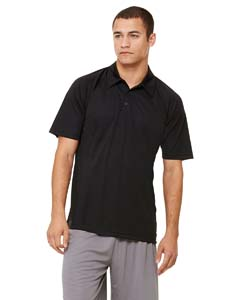Men's Performance Three-Button Raglan Polo