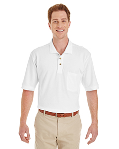 Adult 6 oz. Ringspun Cotton Pique Short-Sleeve Pocket Polo