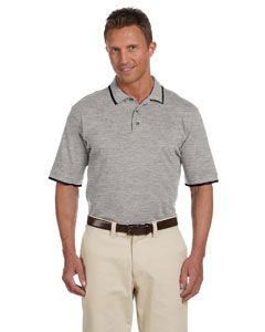 6 oz. Short-Sleeve Pique Polo with Tipping