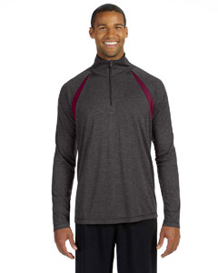 Men's Quarter-Zip Lightweight Pullover with Insets