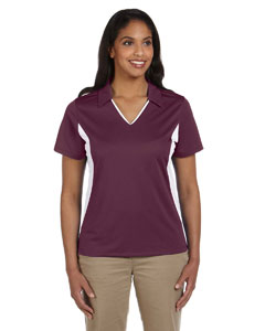 Ladies  Side Blocked Micro-Pique Polo