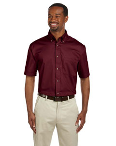 Men's  Short-Sleeve Twil`Shirt with Stain-Release
