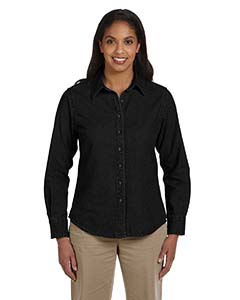 Ladies  6.5 oz. Long-Sleeve Denim Shirt