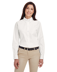 Ladies' Foundation 100% Cotton Long-Sleeve Twill Shirt with Tefl