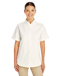 Ladies' Foundation 100% Cotton Short-Sleeve Twill Shirt Teflon&t