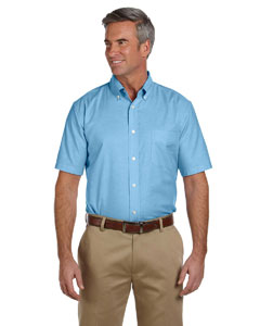 Mens  Short-Sleeve Oxford with Stain-Release