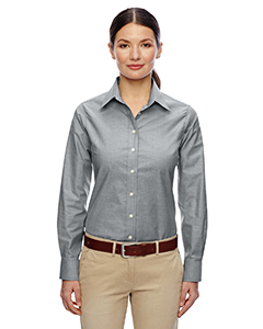 Ladies  Long-Sleeve Oxford with Stain-Release