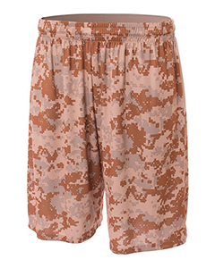 Adult Ten Inch Inseam Printed Camo Performance Short