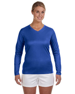 Ladies Ndurance® Athletic Long-Sleeve V-Neck T-Shirt