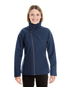 Ladies' Edge Soft Shell Jacket with Fold-Down Collar