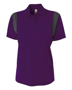 Ladies Color Blocked Polo w/ Knit Collar