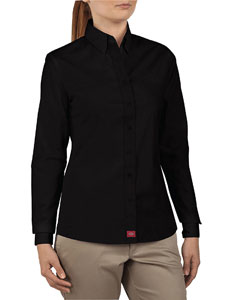 Ladies Long-Sleeve Button Down Shirt