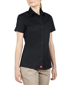 Ladies Short-Sleeve Button Down Shirt