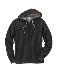Men's Two-Color Deluxe Ful`Zip Hooded Sweatshirt