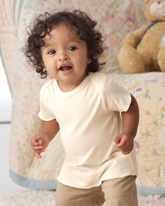 Infant Certified Organic Cotton Baby Rib Lap Shoulder T-Shirt
