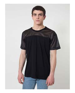 Fine Jersey Athletic Tee With Mesh