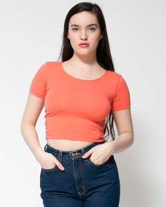 Cotton Spandex Jersey Crop Tee