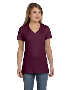 Ladies  4.5 oz. 100% Ringspun Cotton nano-T® V-Neck T-Shir