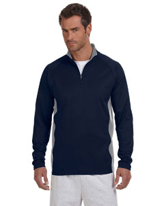 5.4 oz. Performance Colorblock Quarter-Zip Pullover
