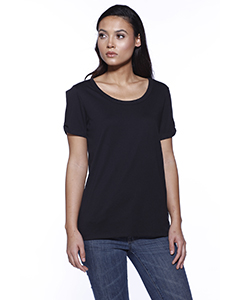 Ladies' CVC Twist Sleeve Top
