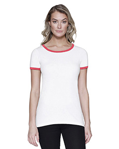 Ladies' CVC Ringer T-Shirt