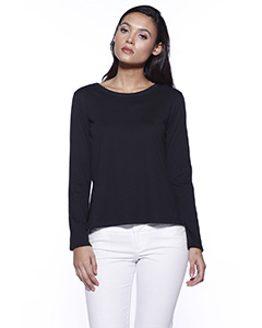 Ladies' CVC High Low Long-Sleeve T-Shirt